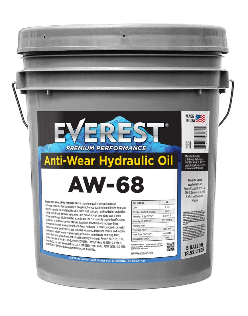 Everest AW Hydraulic Oil ISO 68