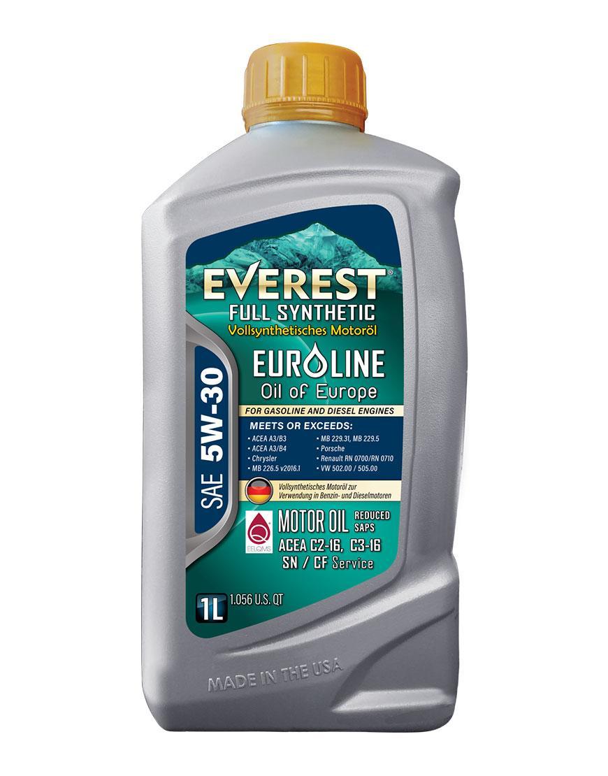 Everest Full Syn EuroLine SAE 5W-30 Motor Oil Reduced SAPS